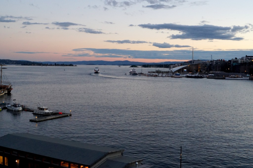 Utsikt från fästningen i solnedgången